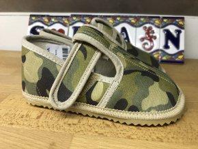Beda Barefoot vojenské - přezůvky (užší)