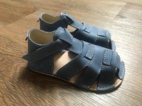Orto+ Barefoot D201 (modré) - dětská letní obuv, sandály