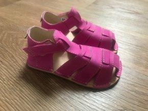 Orto+ Barefoot D201 (fuchsiové) - dětská letní obuv, sandály