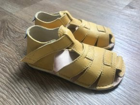 Orto+ Barefoot D201 G (pískové) - dětská letní obuv, sandály