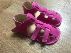 Orto+ Barefoot D202 (fuchsiové) - dětská letní obuv, sandály