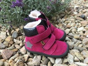 Filii Himalaya velours tex pink - dětská zimní obuv