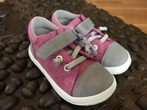 Jonap Barefoot model B12/MV (růžovo-šedé) - dětská celoroční obuv