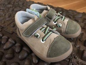 Jonap Barefoot model B12/SV (béžové/khaki) - dětská celoroční obuv