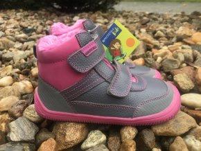 Protetika Tyrel Fuxia - dětská zimní obuv
