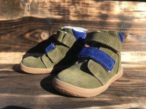 Jonap Barefoot B4SV (khaki) - dětská zimní obuv