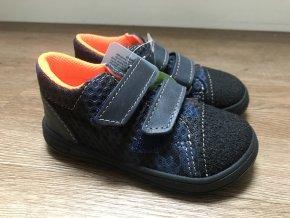 Jonap Barefoot model B1/SV (černomodré) - dětská celoroční obuv