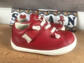 Camper Peu Cami Red - dětská kožená obuv