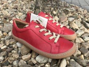 Froddo barefoot G3130173-4 (červené) - kožená celoroční obuv