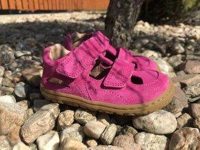 Lurchi Nando Fuxia - kožená dětská letní obuv