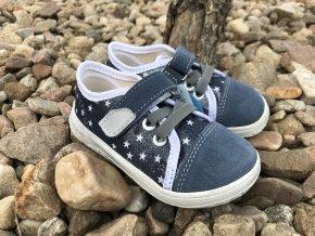 Jonap Barefoot model B15 Airy (modrá hvězda) - dětská celoroční obuv