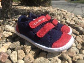 3F bar3Foot modročervené - dětské látkové tenisky