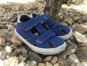 Jonap Barefoot model B8MF (modrá) - dětská letní obuv