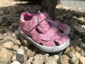 Jonap Barefoot model B8SV (růžová devon) - dětská letní obuv