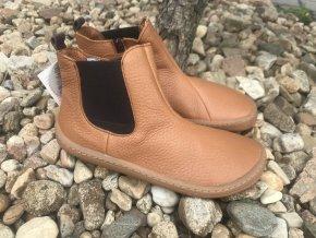 Froddo barefoot G3160159-1 (cognac, chelsea) - kožená celoroční obuv