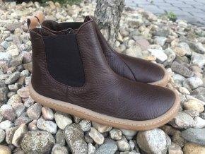 Froddo barefoot G3160159-5 (hnědé, chelsea) - kožená celoroční obuv