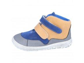 Jonap Barefoot Bella modrobéžová (M) - dětská celoroční obuv