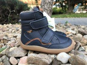 Froddo barefoot G3160164 (tmavě modré, s membránou) - dětská zimní obuv