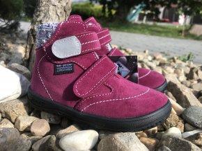 Jonap Barefoot B5/S (vínová) - dětská zimní obuv