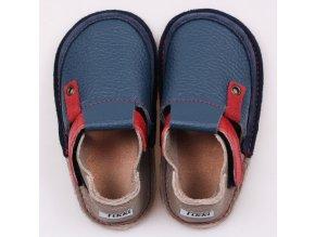 Pantof bleumarin rosu
