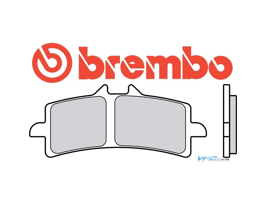 BREMBO brzdové destičky 07BB37RC karbon keramické