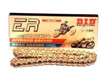 D.I.D. motocyklový řetěz 520ERV3-120 gold X-oring