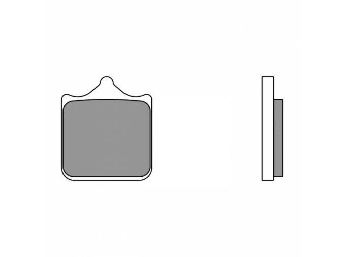 Brzdové destičky BREMBO 07BB33RC karbon keramické