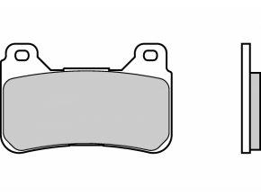 Brzdové destičky BREMBO 07HO50RC karbon keramické