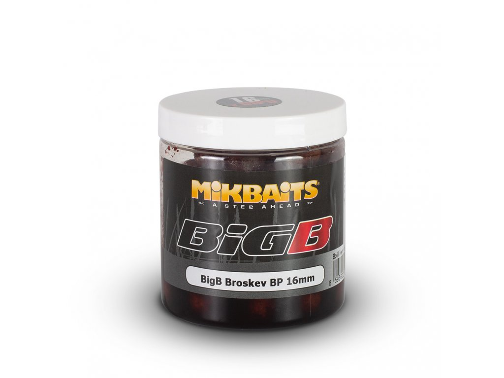 Mikbaits - BiG boilie v dipu 250ml - BigB Broskev Black pepper