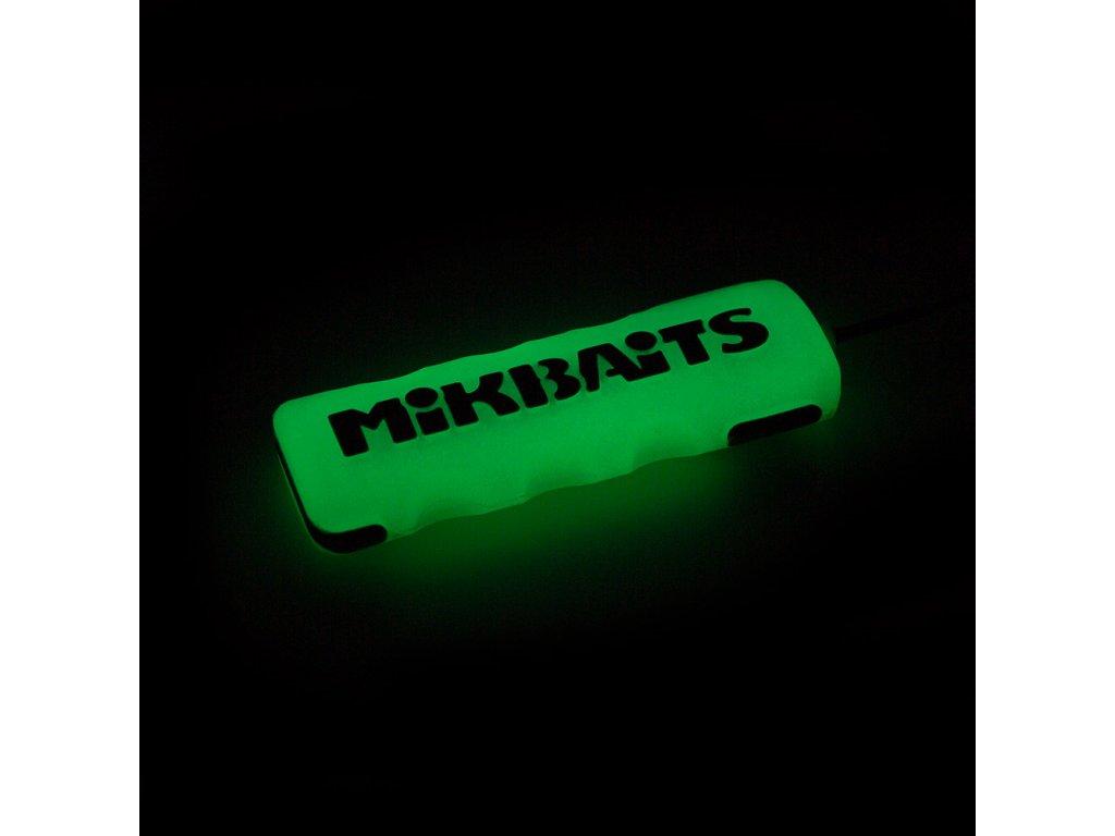Mikbaits - Boilie jehla Extra Heavy GLOW bílá bez zobáčku svítící