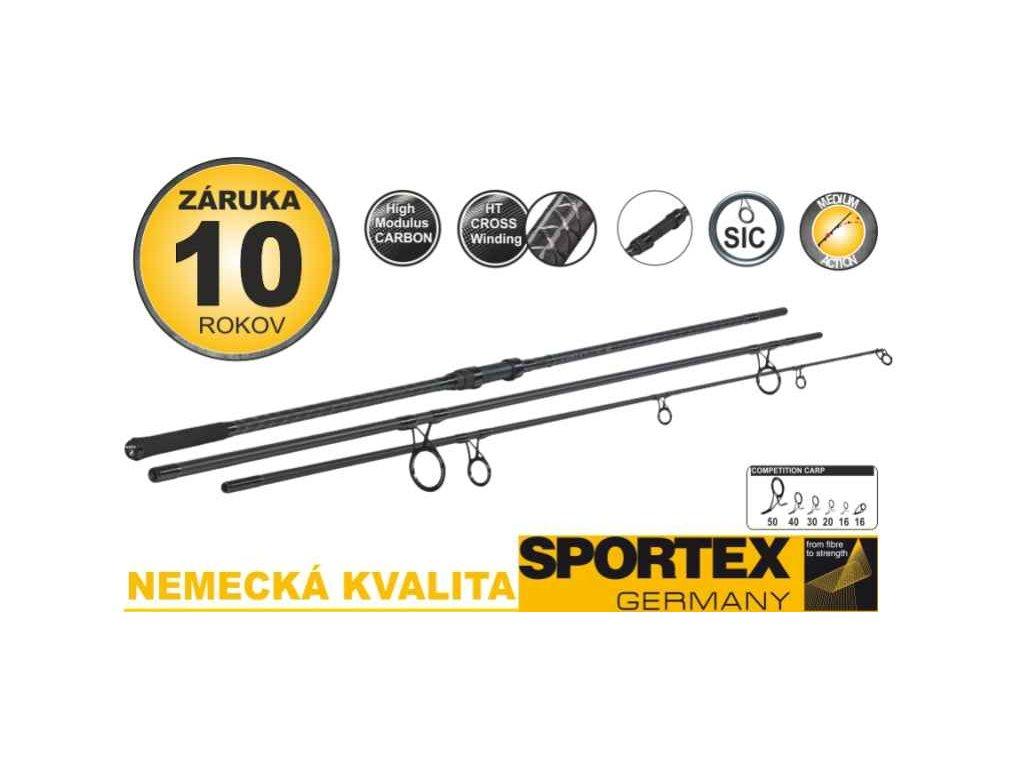Sportex - Kaprové pruty SPORTEX Competition Carp CS-4 3díl