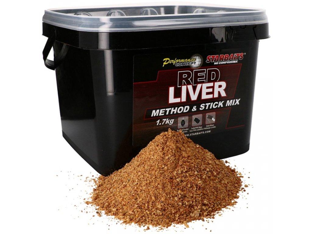 Starbaits - Method & Stick Mix Red Liver 1,7kg