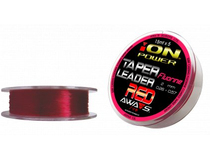 AWA-S - FLUORINE RED TAPER LEADERS 15 m x 5 ks