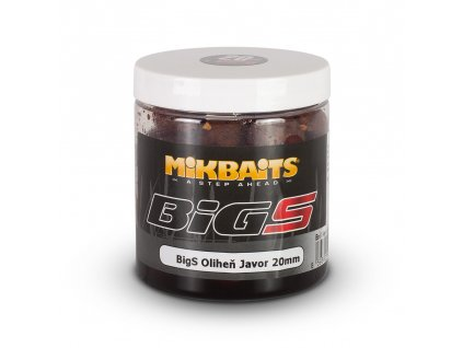 Mikbaits - BiG boilie v dipu 250ml  BigS Oliheň Javor