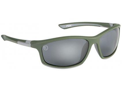 csn044 fox collection green silver frame grey lense
