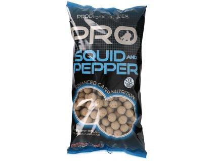Starbaits - Probiotic Squid & Pepper  Boilie potápivé