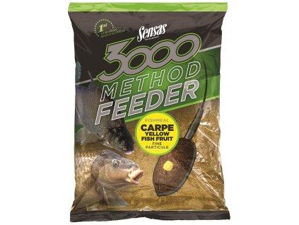 Sensas - Krmení 3000 Method Carpe Yellow 1kg
