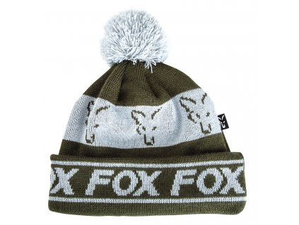 cpr990 fox green silver lined bobble hat