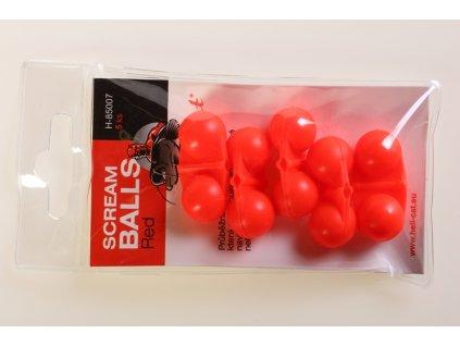 Hell-Cat - Chrastítko Scream Balls Red,5ks