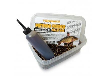Mikbaits - Method Feeder pellet box 400g + 120ml - různé druhy