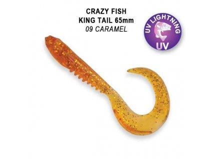 """CRAZY FISH - King Tail 2,5""""  6 kusů v balení"""