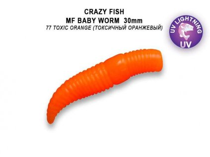 "Crazy Fish - MF Baby worm 1,2"" 30mm kreveta"