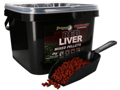 Starbaits - Red Liver Pelety Mixed 2kg