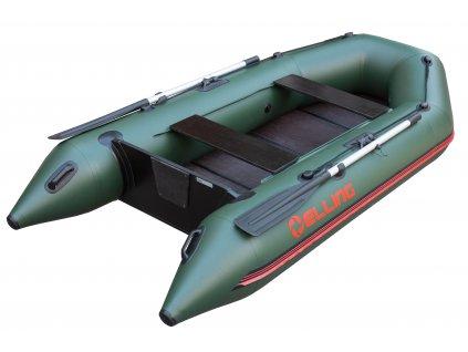 Elling -  Nafukovací člun Forsage 270 s pevnou skládací podlahou, zelený