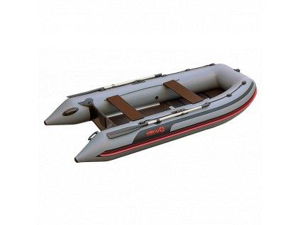 Elling -  Nafukovací člun Pilot 280 s pevnou podlahou, šedý