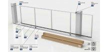 E-BOX X-TRACK - 5.5 WTO 825, GOS 4 sada pro posuvnou bránu do 5,5m průjezdní šířky