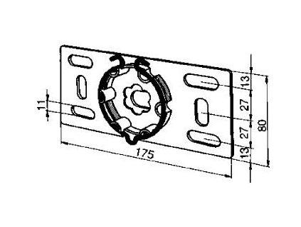 Přírubový držák pohonu - nastavitelný
