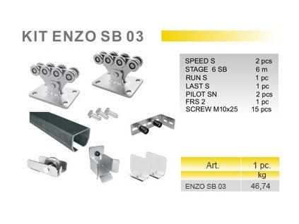 KIT ENZO SB 03 - sada pro posuvnou samonosnou bránu