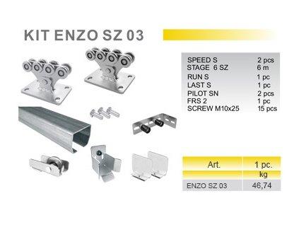 KIT ENZO SZ 03 - sada pro posuvnou samonosnou bránu