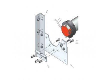 Dělená bočnice s otvorem pro montáž hlavy vně boxu - nad 300 Nm 450 x 450 mm
